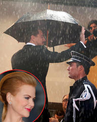 Leonardo DiCaprio and Nicole Kidman battle the elements to hit Cannes 2013 red carpet