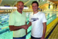 olympic swimming heroes michael jamieson and david wilkie in bbc interview